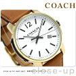 コーチ ブリーカー 42mm クオーツ メンズ 腕時計 14602005 COACH ホワイト