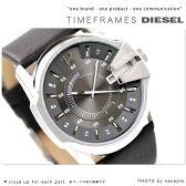 DZ1206 ディーゼル メンズ 腕時計 ブラウンレザー×グレー DIESEL