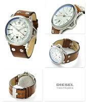 ディーゼルロールケージメンズ腕時計DZ1715DIESELシルバー×ブラウン