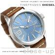 ディーゼル ラスプ クオーツ メンズ 腕時計 DZ1804 DIESEL ブルー×ブラウン【あす楽対応】