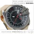 DZ4306 ディーゼル メンズ 腕時計 メガチーフ ブラック×ベージュ レザーベルト DIESEL
