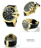 DZ4344ディーゼルメンズ腕時計メガチーフクロノグラフクオーツブラックDIESEL