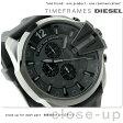 ディーゼル メガチーフ クロノグラフ メンズ 腕時計 DZ4378 DIESEL オールブラック