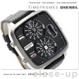DZ7302 ディーゼル ハル クオーツ メンズ 腕時計 DIESEL ブラック レザーベルト