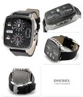 ディーゼルハルクオーツメンズ腕時計DZ7302DIESELブラックレザーベルト