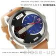 DZ7308 ディーゼル ミニ ダディ デュアルタイム メンズ 腕時計 DIESEL クオーツ ブルー×ライトブラウン