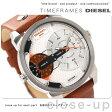 DZ7309 ディーゼル ミニ ダディ デュアルタイム メンズ 腕時計 DIESEL クオーツ シルバー×ブラウン レザーベルト
