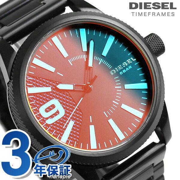 ディーゼル 時計 メンズ DIESEL 腕時計 DZ1844 ラスプ 47mm オールブラック
