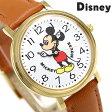 ディズニー ミッキーマウス 34mm クオーツ M34-WH-LBR ユニセックス 腕時計 Disney