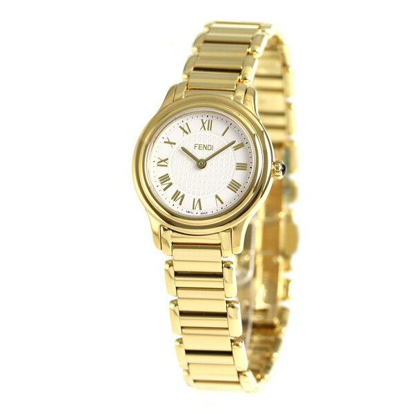 【当店なら!さらにポイント+4倍】 フェンディ モダ クオーツ レディース 腕時計 F251424000 FENDI ホワイト×ゴールド 時計【あす楽対応】