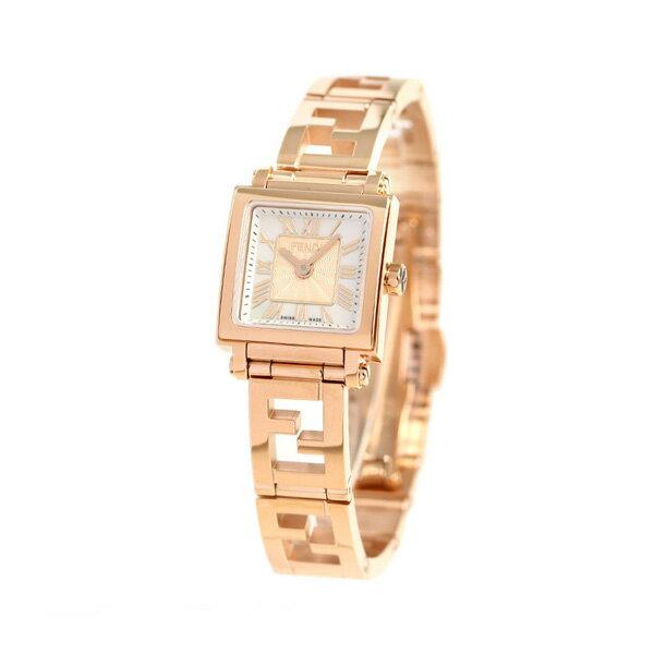 フェンディ クアドロ ミニ 20mm レディース 腕時計 F605524500 FENDI ホワイトシェル 時計