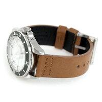 フィルソンダッチハーバー43mmクオーツメンズ腕時計20001753FILSONホワイト×ライトブラウン