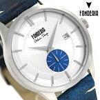 【エントリーでさらにポイント+4倍!26日1時59分まで】 フォンデリア ストリームライナー 41mm 革ベルト メンズ 腕時計 6A009USB FONDERIA 時計