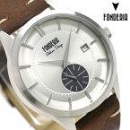 フォンデリア ストリームライナー 41mm クオーツ メンズ 腕時計 6A009USG FONDERIA シルバー 時計