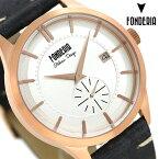 【エントリーでさらにポイント+4倍!26日1時59分まで】 フォンデリア ストリームライナー 41mm 革ベルト メンズ 腕時計 6R009US1 FONDERIA 時計