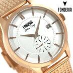 フォンデリア ストリームライナー 41mm メンズ 腕時計 8R009US1 FONDERIA ピンクゴールド 時計