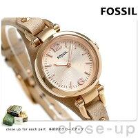 フォッシル ジョージア ミニ クオーツ レディース 腕時計 ES3262 FOSSIL ピンクゴールド
