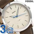 フォッシル ミニマリスト クオーツ メンズ 腕時計 FS5306 FOSSIL ベージュ×ブラウン