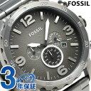 フォッシル ネイト クロノグラフ クオーツ メンズ 腕時計 JR1437 FOSSIL グレー 時計...