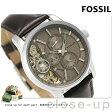 フォッシル グラント ツイスト 42mm オープンハート メンズ ME1098 FOSSIL 腕時計 グレー【あす楽対応】