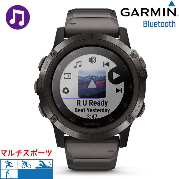 ガーミン GARMIN フェニックス5プラス fenix 5X Plus チタン ブラック 010-01989-70 腕時計 GPS Bluetooth 時計