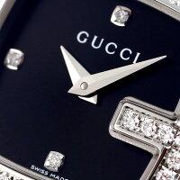 グッチGグッチダイヤモンドクオーツレディース腕時計YA125520GUCCIブラック