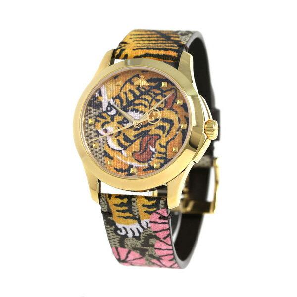 グッチ 時計 革ベルト レディース GUCCI 腕時計 YA1264008 ベンガル×マルチカラー【あす楽対応】
