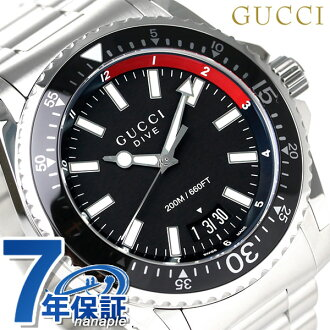d9bdfb59535 古驰潜水瑞士制造石英人YA136212 GUCCI手表黑色