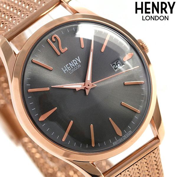 ヘンリーロンドン HENRY LONDON フィンチリー 39mm HL39-M-0118 腕時計 グレーシルバー 時計【あす楽対応】