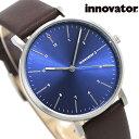 イノベーター エンケル 38mm メンズ 腕時計 IN-0007-19 Innovator 革ベルト ブルー×ブラウン 時計