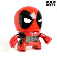 目覚まし時計 子供 キャラクター マーベル デッドプール デジタル クロック BULBBOTZ 2020893 時計