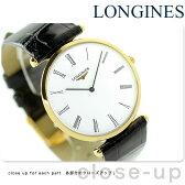 ラ グラン クラシック ドゥ ロンジン メンズ 腕時計 L4.709.2.11.2 LONGINES ホワイト×ブラック