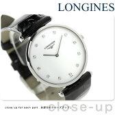 ラ グラン クラシック ドゥ ロンジン ダイヤモンド L4.709.4.17.2 LONGINES 腕時計 ホワイト×ブラック