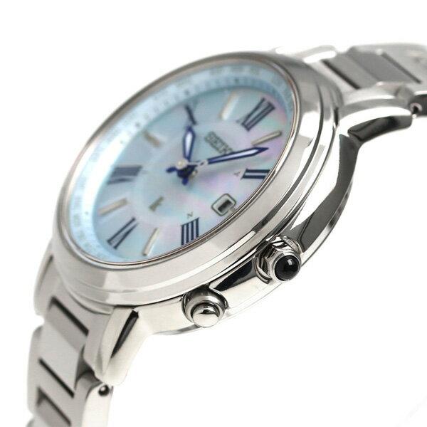 セイコー ルキア SEIKO LUKIA 電波 ソーラー チタン レディース 腕時計 SSQV027 綾瀬はるか ブルーシェル 青 時計