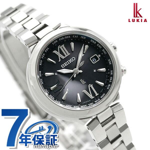 セイコー ルキア SEIKO LUKIA 電波 ソーラー レディース 腕時計 SSVV019 綾瀬はるか ブラック 黒 時計
