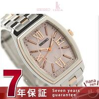 セイコールキア腕時計電波ソーラーレディースデイトうるおいピンク×ピンクゴールドSEIKOLUKIASSVW030