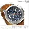 マイケルコース ライカー 47mm クロノグラフ メンズ 腕時計 MK8518 MICHAEL KORS ネイビー【あす楽対応】