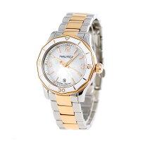ノーティカNWS01クオーツレディース腕時計NAD19544LNAUTICAホワイトシェル