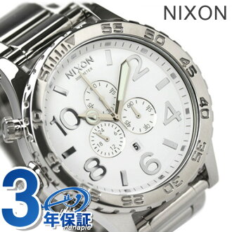 51-30 nixon Nixon watches THE 51-30 CHRONO chronograph high Polish / white A083488