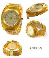 ニクソンタイムテラーアセテート腕時計A327シャンパンゴールド/アンバーnixonA3271423
