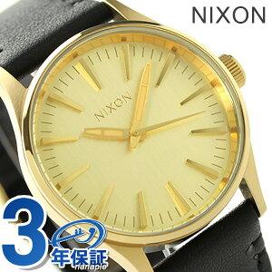 ニクソン A377513 nixon ニクソン セントリー 38 腕時計 ゴールド/ブラック【あす楽対応】