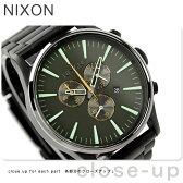 ニクソン A3861042 nixon ニクソン セントリー クロノ 腕時計 マットブラック/サープラス【あす楽対応】