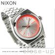 ニクソン A3991764 nixon ニクソン スモールタイムテラー レディース 腕時計 シルバー/ネオンピンク【あす楽対応】
