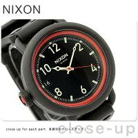ニクソン腕時計オクトーバーA488オールブラック/レッドTHEOCTOBERnixonA488760