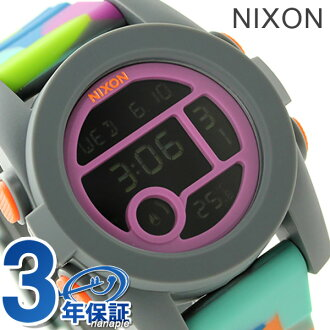 Nixon unit 40 quartz medium watch A4901988 NIXON A490 neoprene P19Jul15