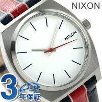 ニクソンA0451854nixonタイムテラーユニセックス腕時計ホワイト/ストライプス