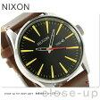 ニクソン セントリー レザー ミディアムサイズ 腕時計 A105019 NIXON ブラック/ブラウン
