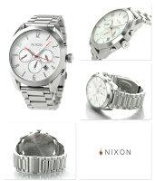 ニクソンA366100nixonブレットクロノグラフレディース腕時計ホワイト
