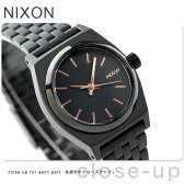 ニクソン A399957 nixon ニクソン スモール タイムテラー レディース 腕時計 オールブラック/ローズゴールド