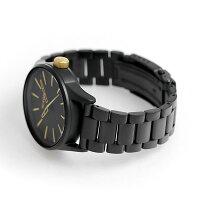 ニクソンA4501041nixonセントリー38SS腕時計マットブラック/ゴールド